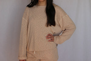 Knit Folded Sleeve Top