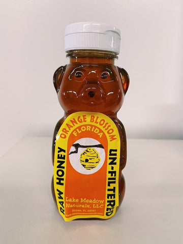 Orange Blossom Honey Bear - 12oz - LOCAL