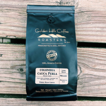 Golden Hills Organic Colombia Cauca Coffee - Locally Roasted