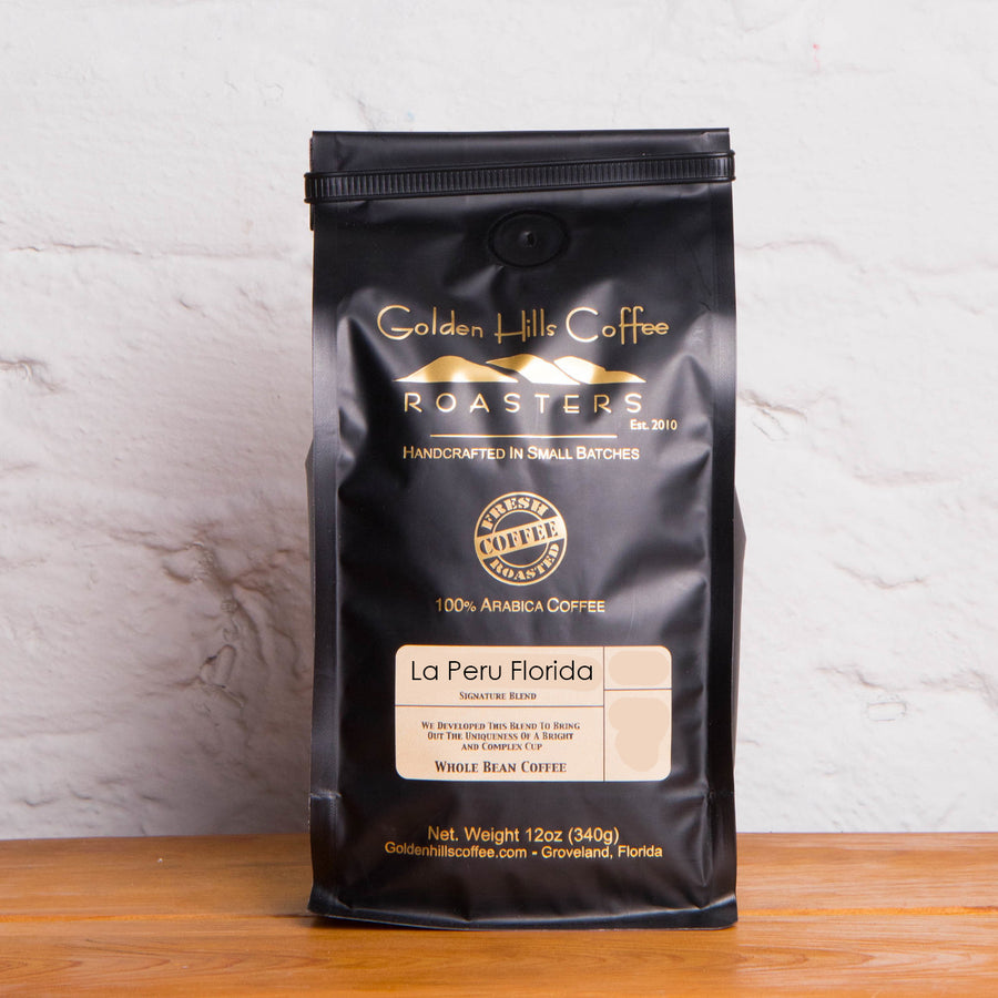 Golden Hills La Peru Florida Coffee - Locally Roasted