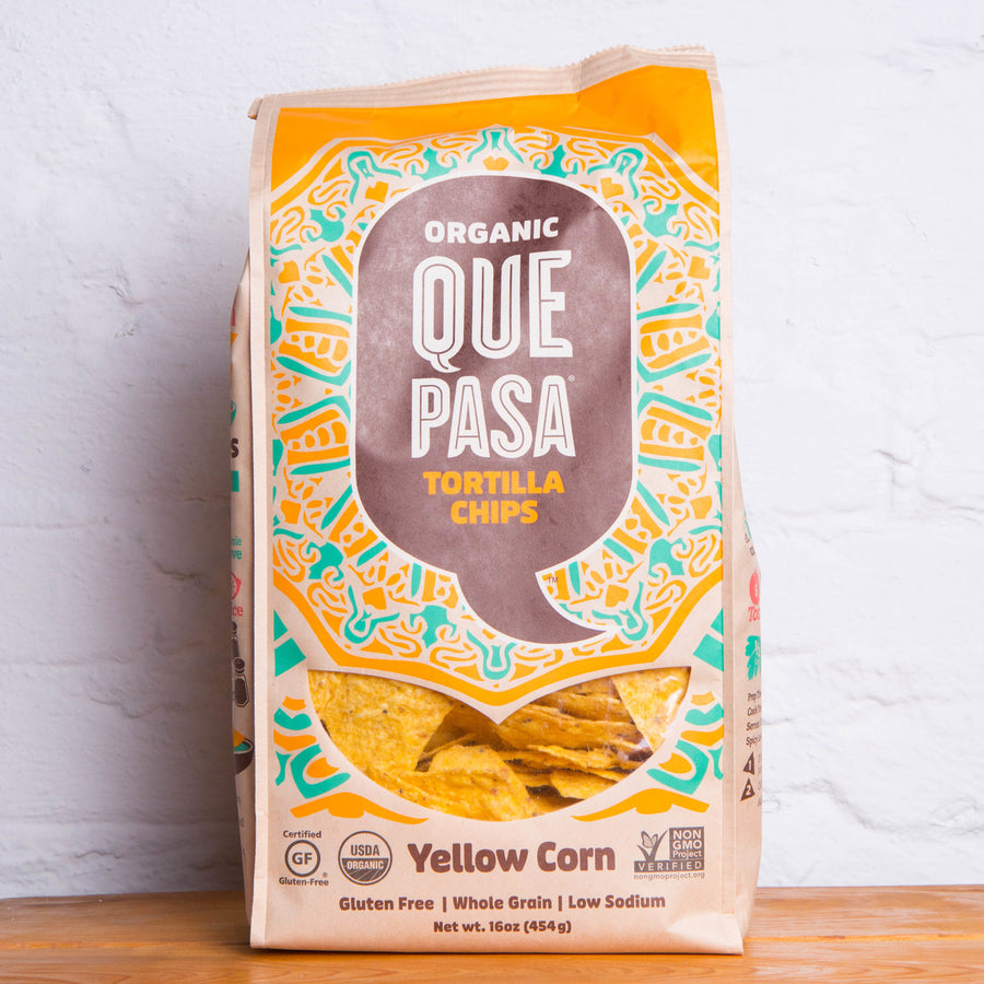 Organic Que Pasa Tortilla Chips (Yellow)