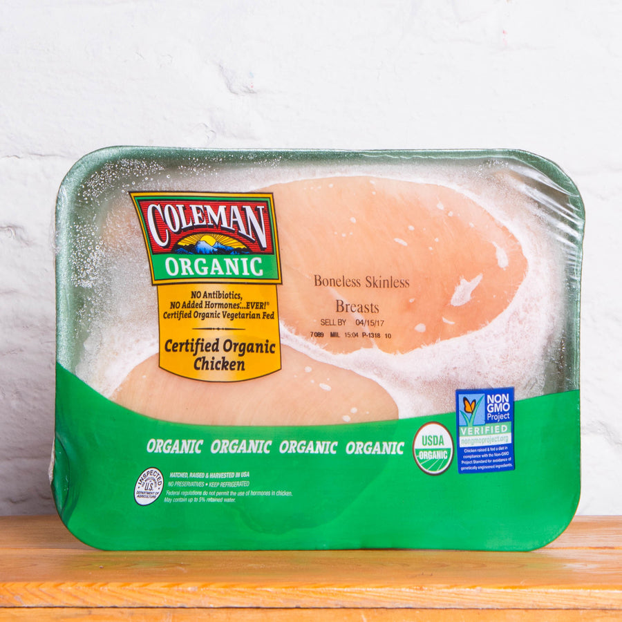 Organic Chicken Breasts Boneless Skinless (1 Pack) - Smart Chicken - 1.25lbs Approx.