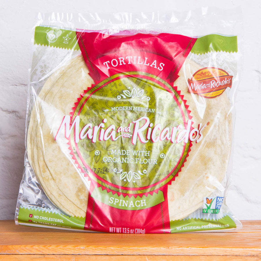 Maria's and Ricardo's Spinach Tortillas