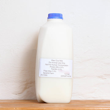 Raw Cows Milk Half Gallon A2/A2- Sandhill Farm - LOCAL