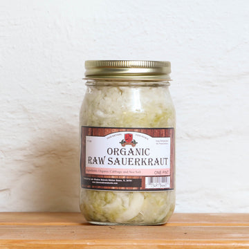 Raw Green Cabbage Sauerkraut - One Pint (Lake Meadows)