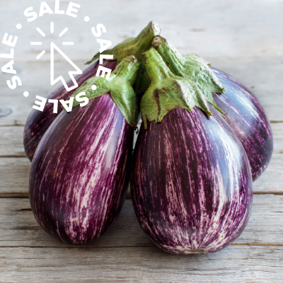 Local Eggplant - Synthetic Pesticide Free - 1 Pound
