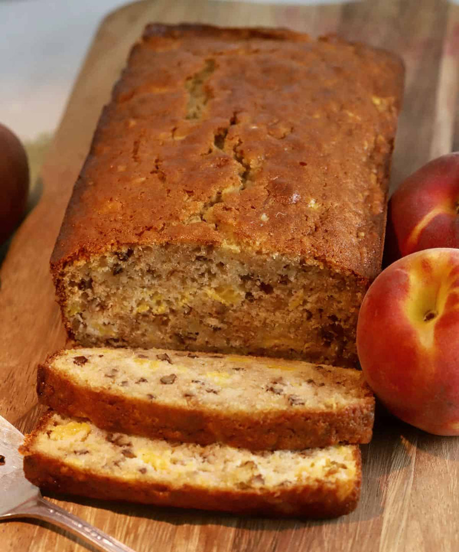 Grandma's Homemade Bread - Organic Peach with Walnuts  - Organic