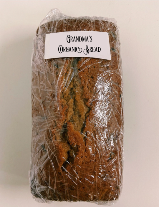 Grandma's Homemade Bread - Blueberry with Walnuts  - Organic