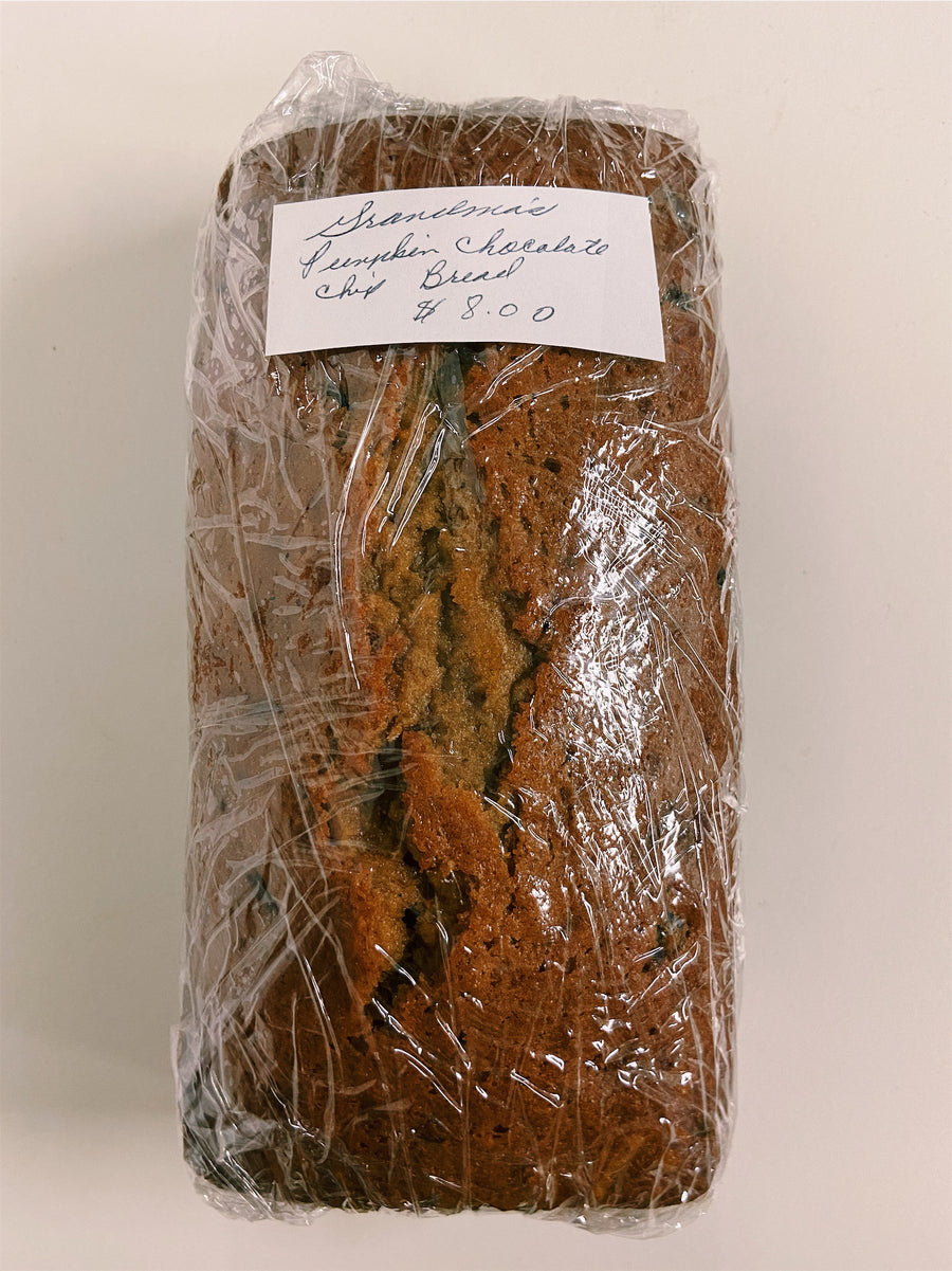 Grandma's Homemade Bread - Pumpkin Chocolate Chip  - Organic