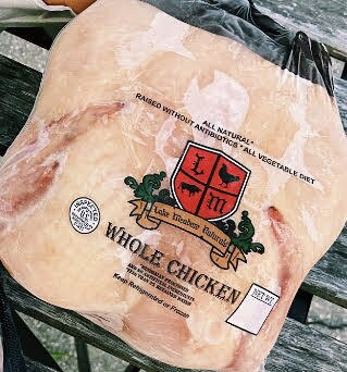 Whole Young Chicken - Approx. 4 LB/EA. - Lake Meadow Naturals Farm
