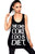 THE ONLY COKE I DO IS DIET TANK TOP (BLACK VISCOSE)
