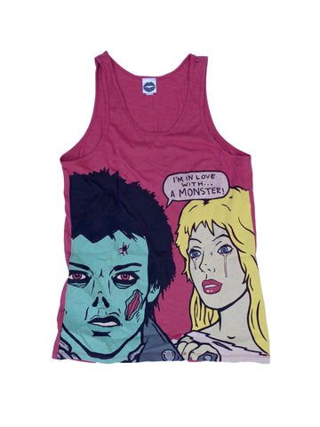 IN LOVE WITH A MONSTER TANK TOP (RED)