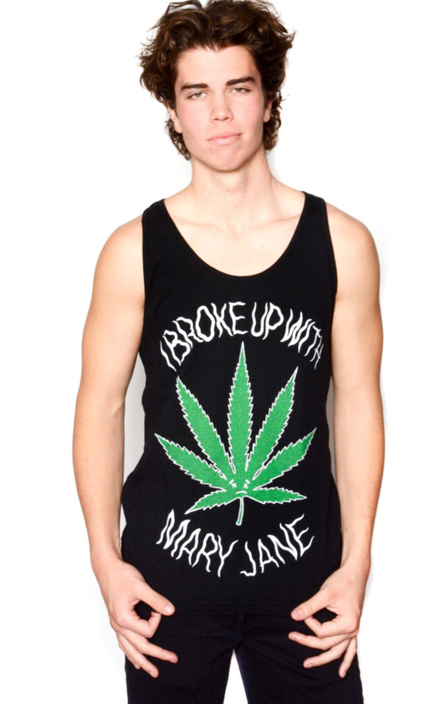 I BROKE UP WITH MARY-JANE TANK TOP (BLACK)