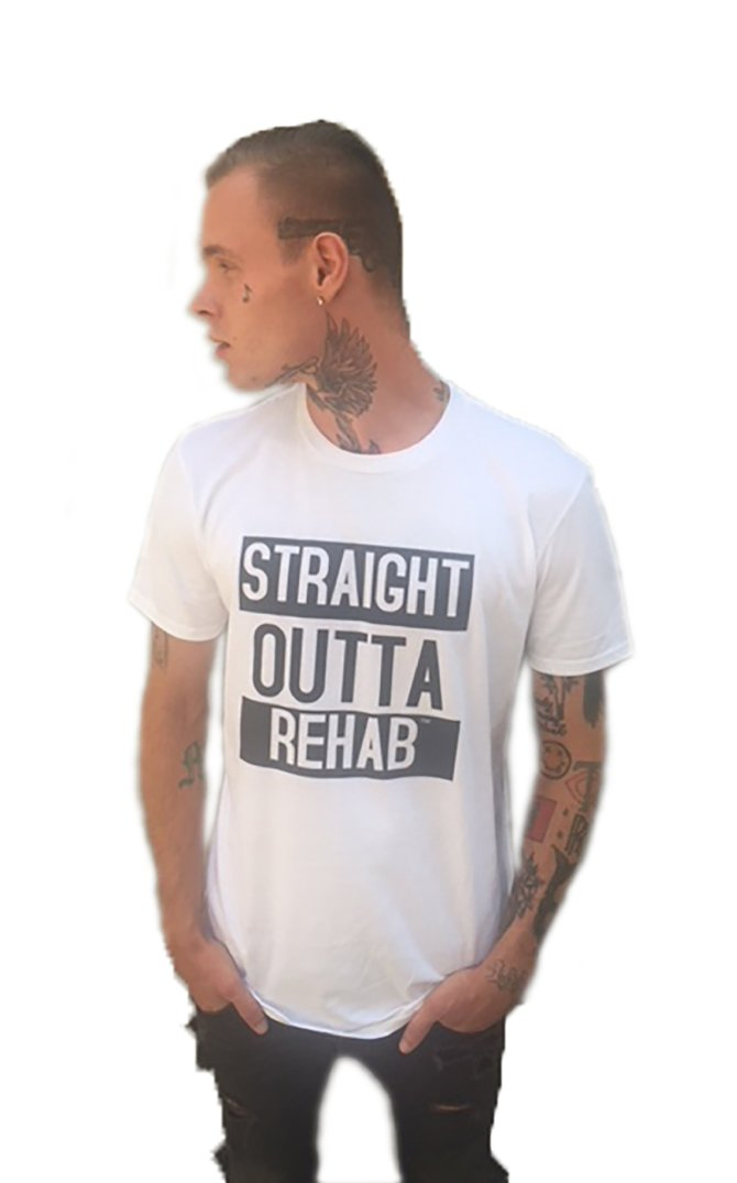 STRAIGHT OUTTA REHAB T-SHIRT (WHITE)