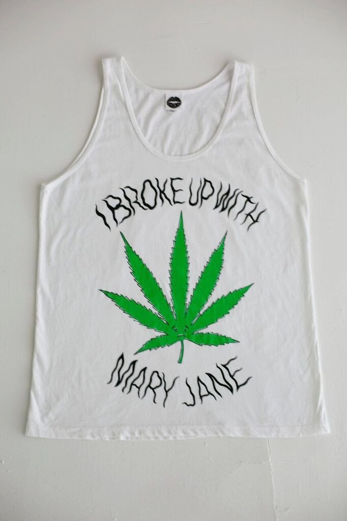 I Broke Up With Mary-Jane Tank Top (White)