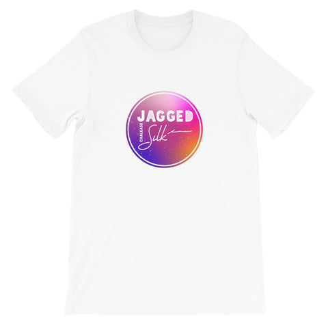Unisex Jagged Silk Album Gradient Short-Sleeve T-Shirt