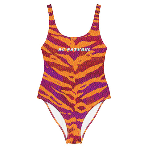 """Au Naturel"" Magenta Tiger One-Piece Swimsuit"