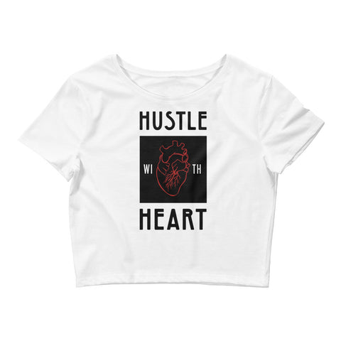 Hustle With Heart Crop Tee