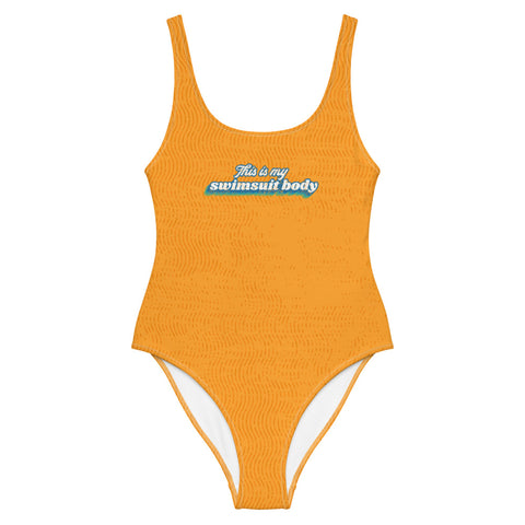 """This Is My Swimsuit Body"" One-Piece Swimsuit"
