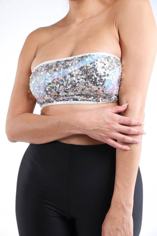 Women's Sequin Tube Tank Top - My Bargain Boutique
