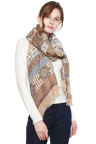Image of Aztec Pattern Bohemian Oblong Scarf - My Bargain Boutique