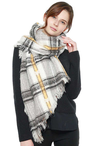 Image of Soft Plaid Check Scarf - My Bargain Boutique