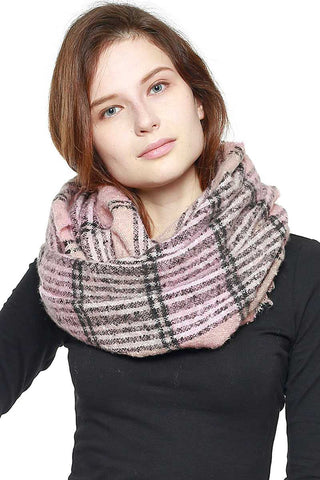 Plaid Infinity Scarf - My Bargain Boutique