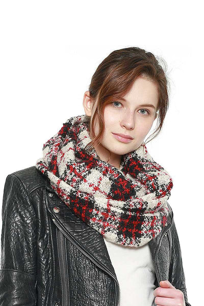 Soft Plaid Infinity Scarf - My Bargain Boutique - Affordable Women's Clothing