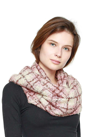 Soft Plaid Infinity Scarf - My Bargain Boutique