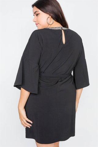 Women's Black Mini Dress - My Bargain Boutique