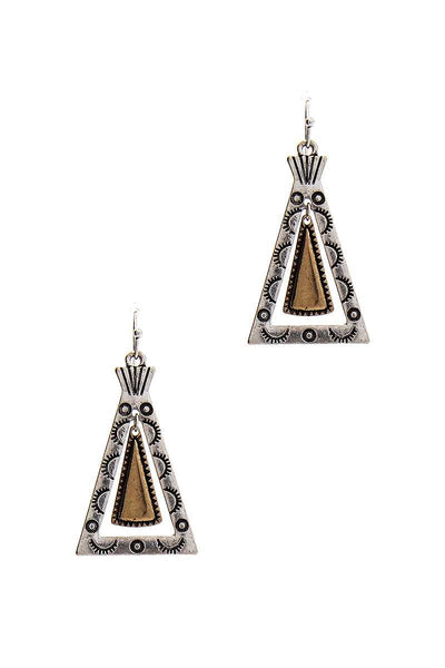 Modern Chic Tipi Inspired Triangle Drop Earring - My Bargain Boutique