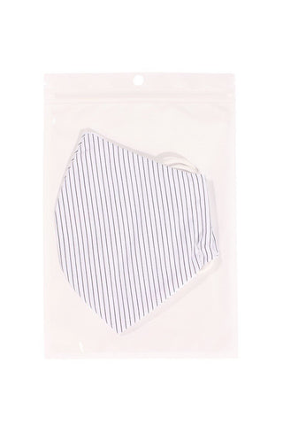 Cotton Stripe 3d Reusable Face Mask - My Bargain Boutique