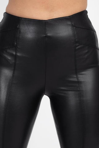 Image of Women's High Waist Faux Leather Pants