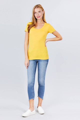 Image of Women's Short Sleeve Scoop Neck Tee - My Bargain Boutique