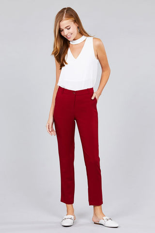 Image of Women's Seam Side Pocket Classic Long Pants - My Bargain Boutique
