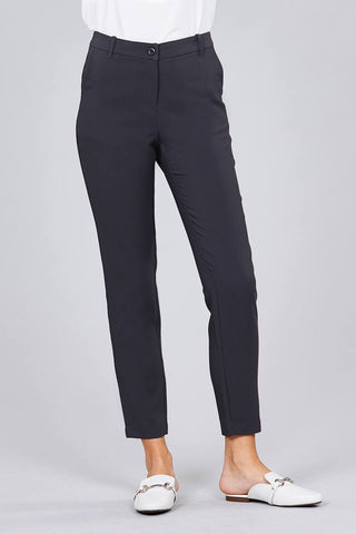 Women's Seam Side Pocket Classic Long Pants - My Bargain Boutique