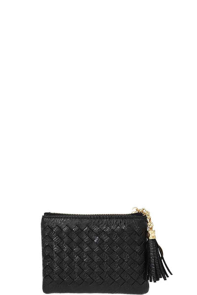 Cute Braided Zip Top Coin Key Wallet - My Bargain Boutique
