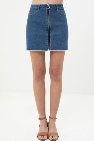 Women's Unique Design Denim Skirt - My Bargain Boutique