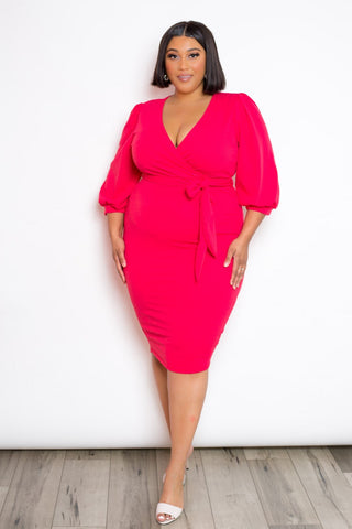 Women's Wrap Midi Dress - My Bargain Boutique