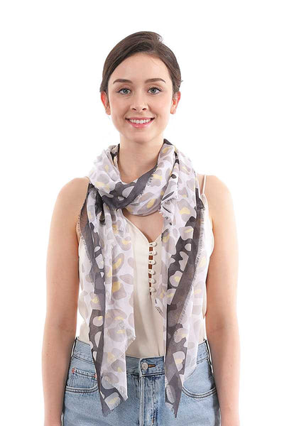 Silky Leopard Pattern Scarf - My Bargain Boutique - Affordable Women's Clothing