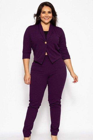 Image of My Bargain Boutique 1XL Classic Pant Suit Set
