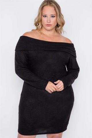 Image of My Bargain Boutique 1XL Off-the Shoulder Dress