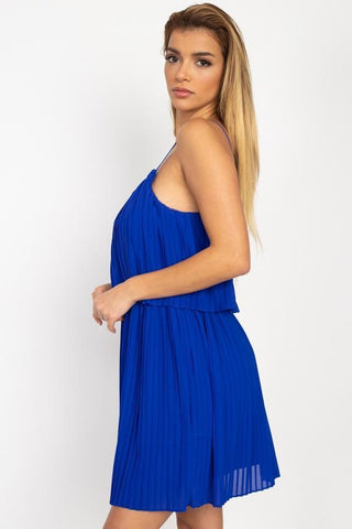 Image of My Bargain Boutique Accordion Pleated Mini Dress
