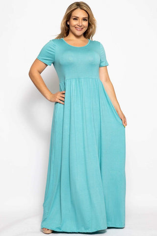 Image of My Bargain Boutique Aqua / XL Vibrant Maxi Dress