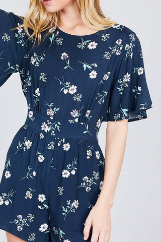 Image of My Bargain Boutique Bell Short Sleeve Romper