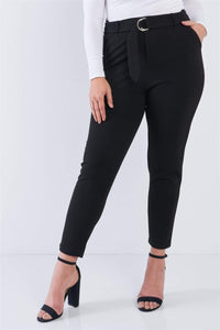 My Bargain Boutique Black / 1XL Ankle Length Pants