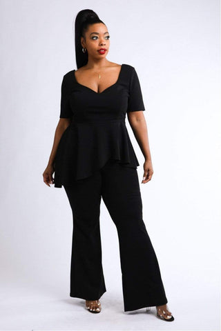 Image of Peplum Top & Pants Set