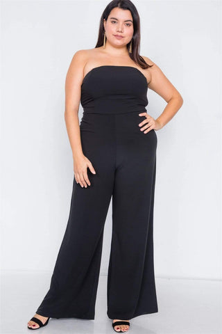Image of My Bargain Boutique Black / 1XL Wide Leg Jumpsuit
