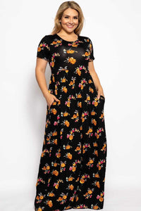 My Bargain Boutique Black Floral / 1XL Summer Sun Dress
