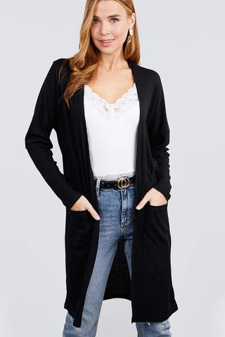 Image of My Bargain Boutique Black / S Pointelle Cardigan